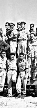 על הקומנדקר עם דיין בשערי אל־עריש, 1956