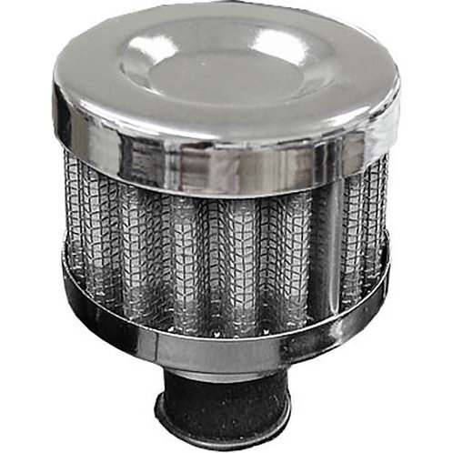 BREATHER FILTER - CHROME 12MM PERFORMANCE