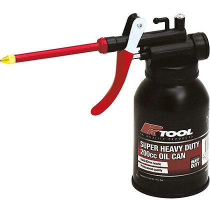 OIL CAN - 200CC HEAVY DUTY WITH STRAIGHT NOZZLE