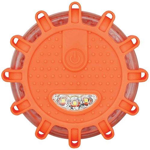 EMERGENCY STROBE LIGHT - 15LEDS 360DEG, TORCH & MAGNET BASE