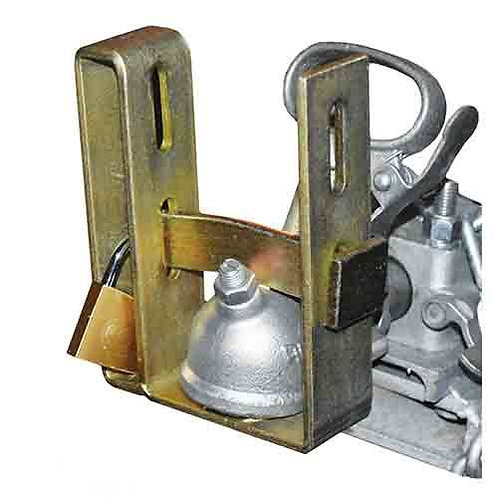TRAILER COUPLING LOCK - WITH PADLOCK FOR HITCHED & UNHITCHED TRAILERS UNIVERSAL