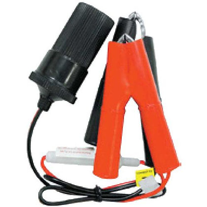 BATTERY LIGHTER ACCESSORY SOCKET - WITH BATTERY CLAMPS 12/24V