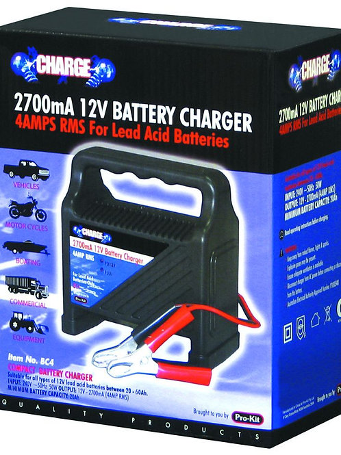 BATTERY CHARGER - 2700mA (4AMP RMS)