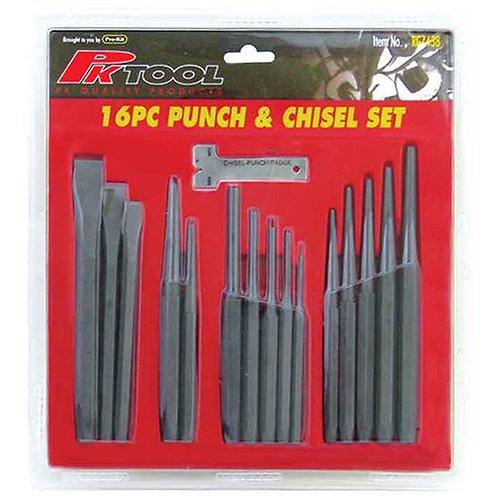 PUNCH & CHISEL SET - 16pc