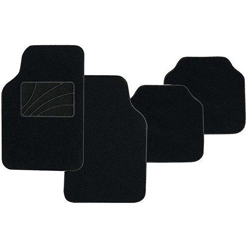 4pc BLACK CARPET MAT SET