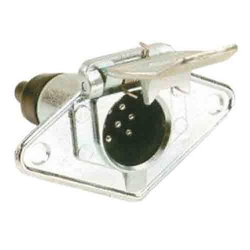 TRAILER SOCKET - 7PIN SMALL ROUND ALUMINIUM
