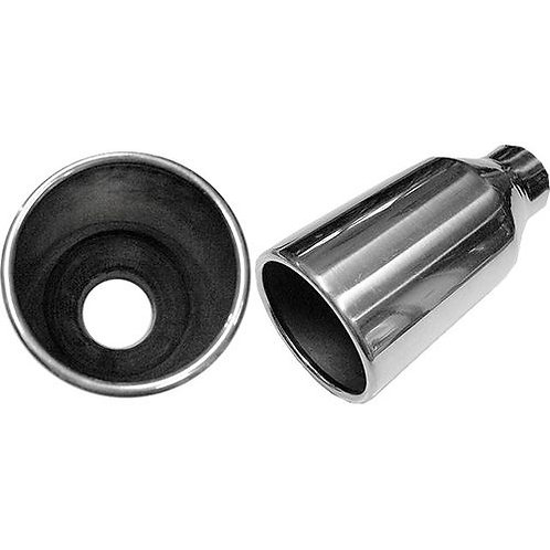 EXHAUST TIP - ROUND STAINLESS STEEL