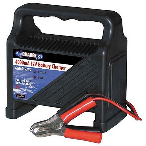 BATTERY CHARGER - 4000mA (6AMP RMS)