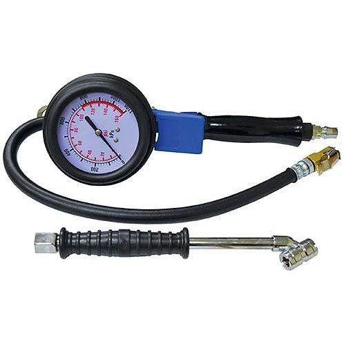 TYRE INFLATOR - WITH GAUGE H/DUTY WITH 2 ADAPTORS