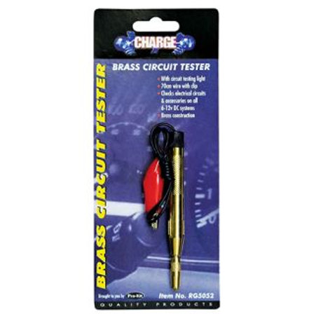 CIRCUIT TESTER - BRASS CHROME PLATED