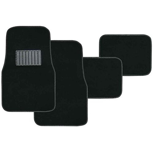 4pc BLACK CARPET MAT SET