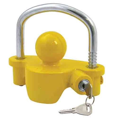 TRAILER COUPLING LOCK - WITH BUILT IN LOCK FOR UNHITCHED TRAILER - UNIVERSAL