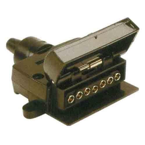 TRAILER SOCKET - 7PIN FLAT PLASTIC