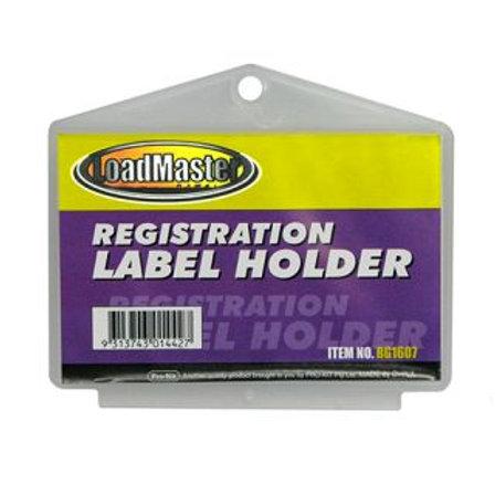 REGO LABEL HOLDER - PLASTIC RECTANGULAR