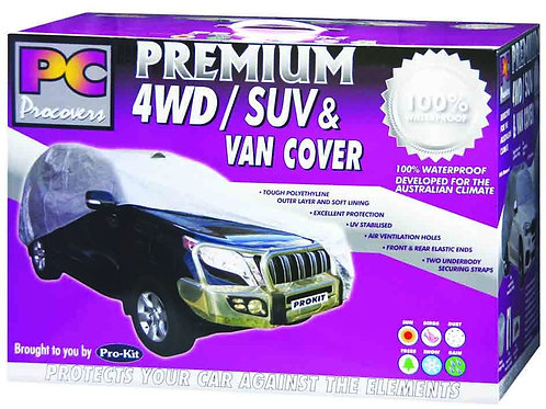"""4WD SUV & VAN COVER - EXTRA LARGE 100% WATERPROOF 200"""" x 77"""" x 60"""" (508 x 195 x"""