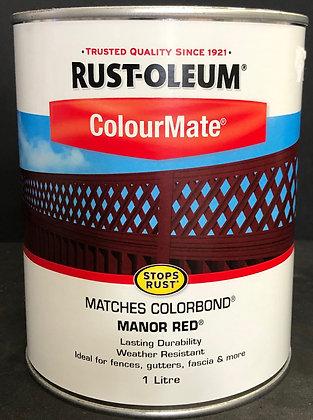 COLORBOND PAINT COLOUR MANOR RED