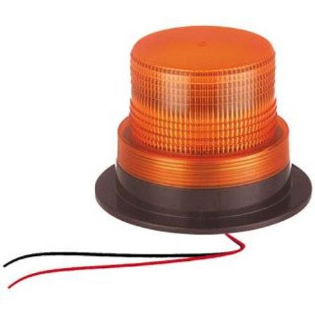 REVOLVING/STROBE LIGHT - 60LED AMBER WITH SCREW ON BASE