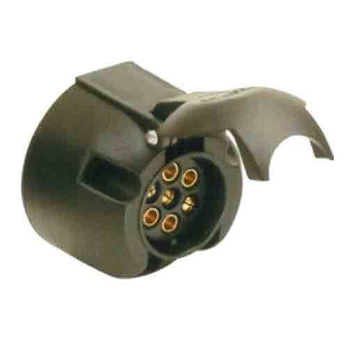 TRAILER SOCKET - 7PIN LARGE ROUND SIDE SOCKET WITHOUT WATER PROOF