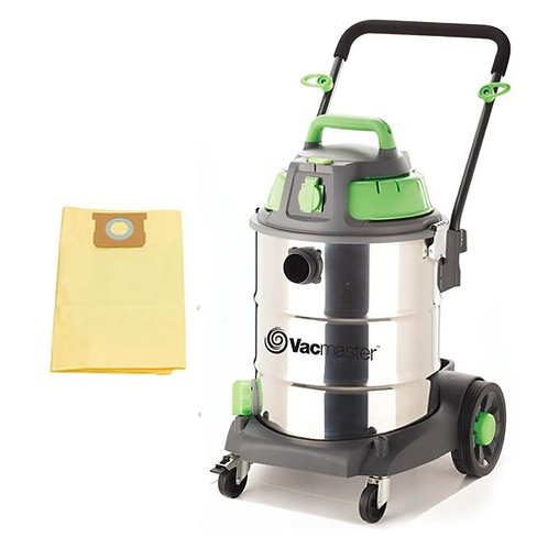 Vacmaster50L Wet / Dry Vacuum & High Efficncy Filter Bag (3PK)