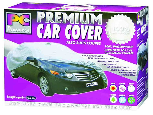 """CAR COVER - EXTRA LARGE 100% WATERPROOF 210"""" x 70"""" x 47"""" (533 x 178 x 119MM)"""