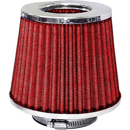 AIR FILTER - POD STYLE CHROME TOP/RED FILTER