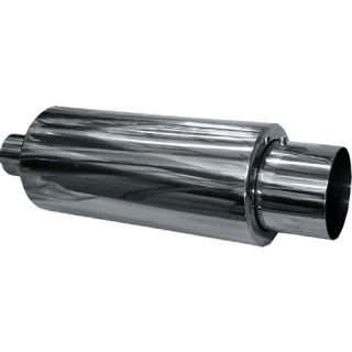 MUFFLER - SINGLE OUTLET STAINLESS STEEL - 460MM LONG, 140 WIDE