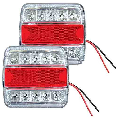 TRAILER LIGHTS - 2pc 28LED WATERPROOF WITH SCREW ON BASES