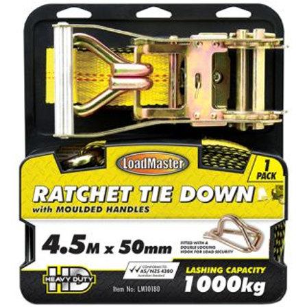 "TIE DOWN - RATCHET 50MM (2"") x 4.5MTR 1000KG"