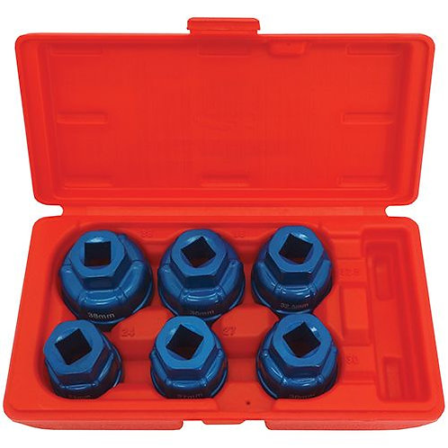 OIL FILTER REMOVAL KIT - 6pc CUP STYLE KIT FOR CARTRIDGE FILTERS