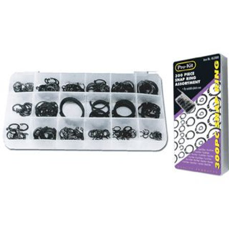 SNAP RING ASSORTMENT - 300pc