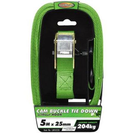 TIE DOWN - CAM BUCKLE 5MTR 204KG