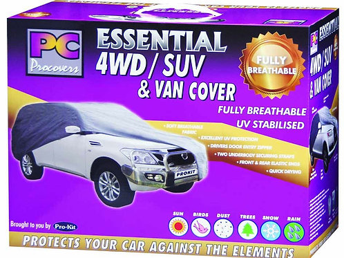"""4WD SUV & VAN COVER - EXTRA LARGE BREATHABLE 70G 200"""" x 77"""" x 60"""" (508 x 195 x 1"""