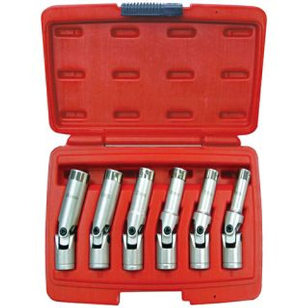 "SOCKET SET - 6pc 3/8"" DR GLOW PLUG"