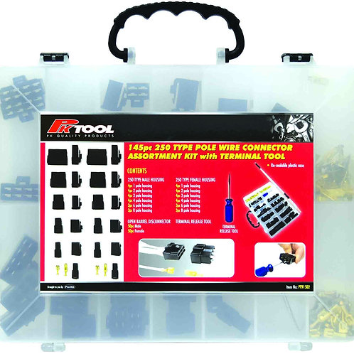 145pc 250 TYPE POLE WIRE CONNECTOR with TERMINAL TOOL