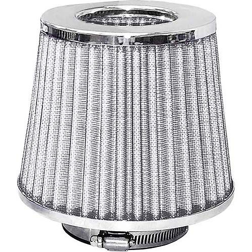 AIR FILTER - POD STYLE CHROME TOP/WHITE FILTER