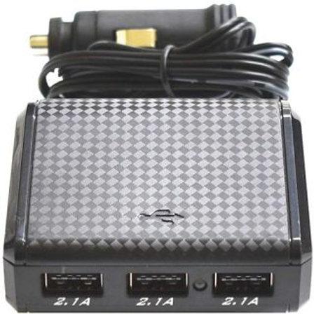 CIGARETTE LIGHTER ACCESSORY SOCKET - WITH 3 USBS 2.1A 12v