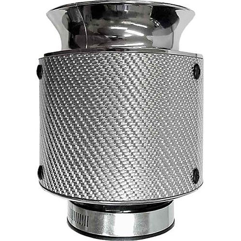 AIR FILTER - POD STYLE REAL CARBON PERFORMANCE FILTER - SILVER