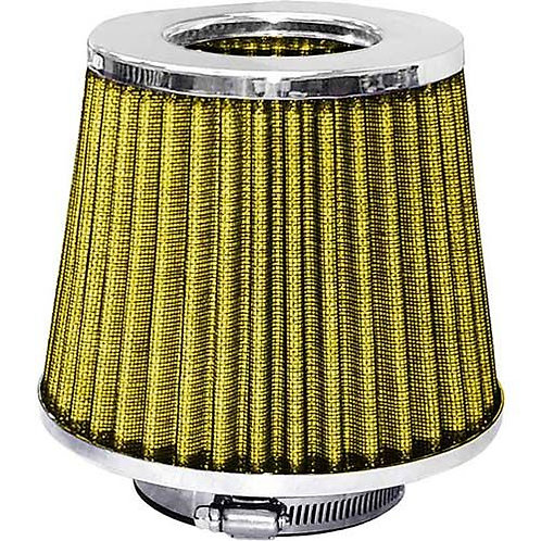 AIR FILTER - POD STYLE CHROME TOP/YELLOW FILTER