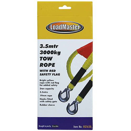 TOW ROPE - 19MM X 3.5MTR 3 TON