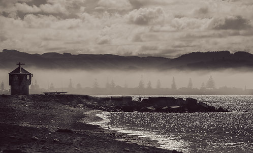 Perfume Point, Ahuriri, Napier - Black and White