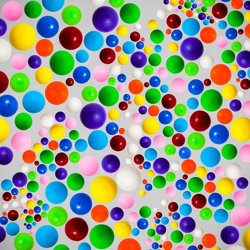 Bright Balloons on grey