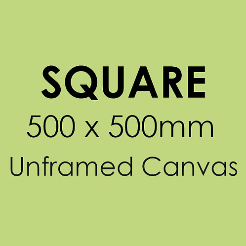 SQUARE 500mm x 500mm unframed canvas