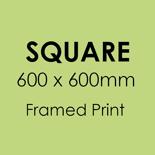 SQUARE 600mm x 600mm framed professional print
