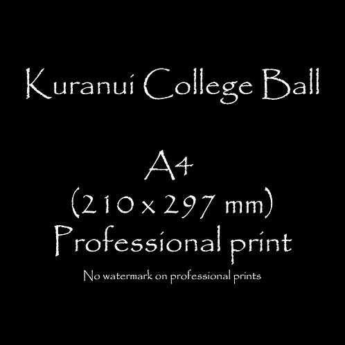 Kuranui College Ball A4 print