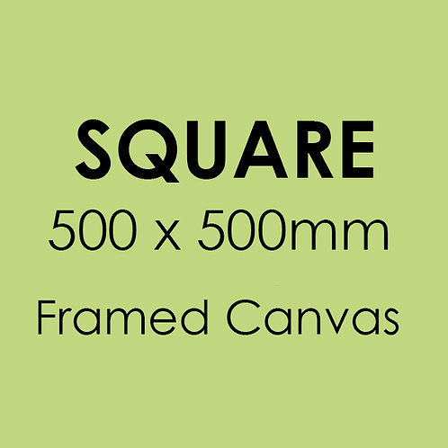 SQUARE 500mm x 500mm Framed Canvas
