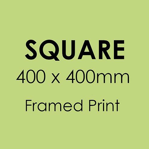 SQUARE 400mm x 400mm framed professional print