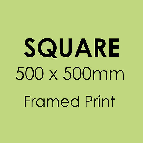 SQUARE 500mm x 500mm framed professional print