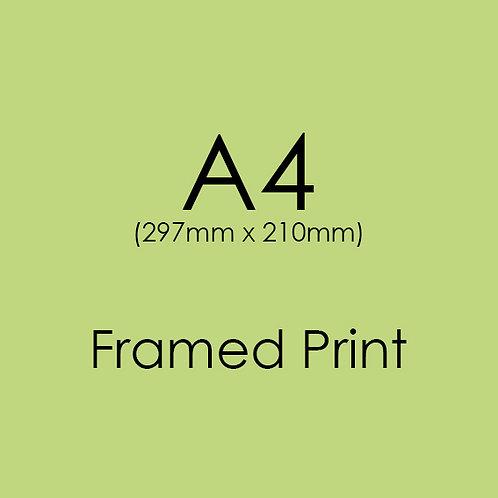 A4 FRAMED Professional Print