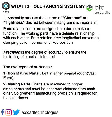 Tolerancing System