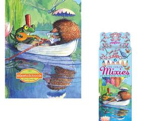 eeBoo Boat Ride Box 6 Tri-Color Mixies with a Sharpener